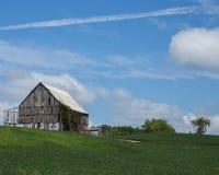 Celeiro velho no campo Foto de Stock Royalty Free