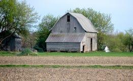 Celeiro velho rústico em Michigan EUA foto de stock royalty free
