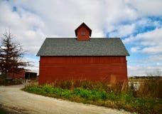 Celeiro vermelho em Peck Family Farm fotos de stock royalty free