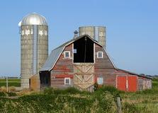 Celeiro vermelho em South Dakota foto de stock