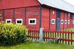 Celeiro vermelho velho Fotografia de Stock