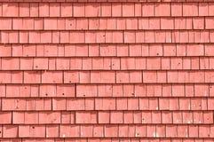 Celeiro vermelho velho, detalhe de telhas Imagens de Stock Royalty Free