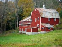 Celeiro vermelho, Vermont foto de stock royalty free