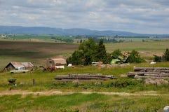 Celeiros e vida de América da régua em Idaho fotos de stock royalty free