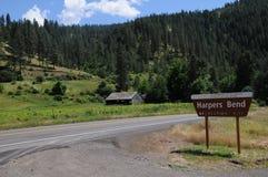 Celeiros e vida de América da régua em Idaho imagens de stock