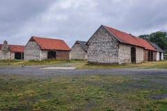 Celeiros velhos em Zarki Imagem de Stock