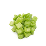 Celery. Celery pieces isolated on white Royalty Free Stock Photos