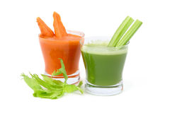 Celery and carrot juice Stock Photos