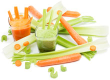 Celery and carrot juice Stock Photography