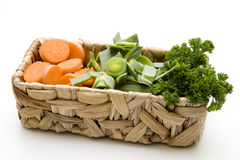Celery with carrots and parsley Stock Images