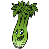 Celery Cartoon. Vector illustration of a Celery Cartoon Stock Images