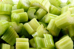 Celery. Close up  pieces of chopped celery Stock Photo