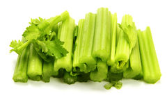 Celery. Cutted fresh celery  on the white background Stock Image
