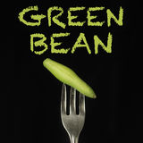 Celery on fork Stock Photo