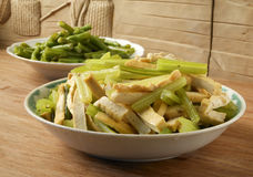 Celery fried hard bean curd. In Chinese style Royalty Free Stock Photos