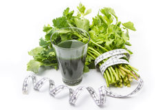 Cerlery Jouice. Celery Juice for people who diet Stock Images