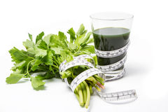 Celery Jouice. Celery Juice for people who diet Stock Photography