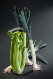 Celery and leek Royalty Free Stock Photography