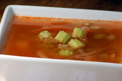 Celery and onion soup Royalty Free Stock Image