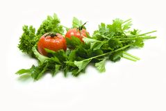Celery Parsley tomatoes Stock Photos