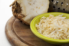 Celery root grated Stock Photography