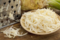 Celery root grated Royalty Free Stock Images