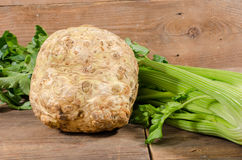 Celery root and green celery Stock Photo