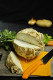 Celery root - wedges celeriac, source of vitamine, fresh healthy Stock Photo