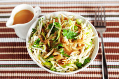 Celery salad with zucchini Royalty Free Stock Images