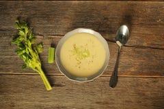 Celery soup Royalty Free Stock Photo