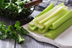 Celery stems royalty free stock photos