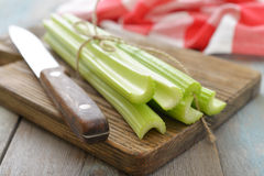 Celery stems Stock Photo