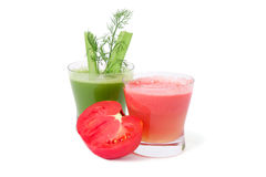 Celery and tomato juice Royalty Free Stock Images