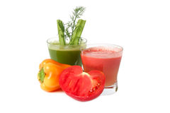 Celery and tomato juice Stock Image