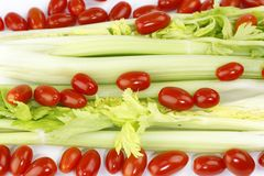 Celery and Tomatoes Royalty Free Stock Photo
