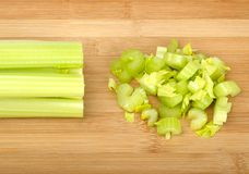 Celery on a wooden board Royalty Free Stock Photography