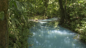 Celeste River. At Costa Rica Royalty Free Stock Photography