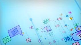 Celeste Social Bubbles abstracto alegre Foto de archivo libre de regalías