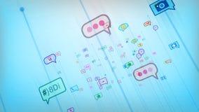 Celeste Social Bubbles abstracto hilarante Imágenes de archivo libres de regalías