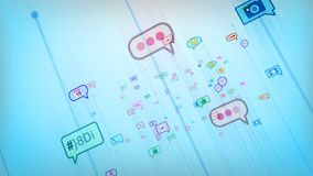 Celeste Social Bubbles astratto divertente illustrazione vettoriale