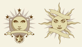 Celestial banners Stock Images