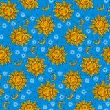 Celestial bohemian pattern Royalty Free Stock Image