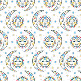 Celestial boho chic pattern Royalty Free Stock Images
