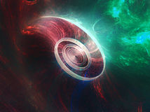 Celestial Eddies. A swirling whirlpool in the middle of space stock illustration