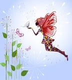 Celestial Fairy on a flower Royalty Free Stock Photos