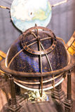 Celestial globe of the astronomical clock. Focus on famous celestial astronomical globe Stock Photos
