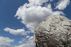 Celestial globes--Moscow, Russia Royalty Free Stock Photo