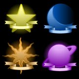Celestial icons Royalty Free Stock Photos