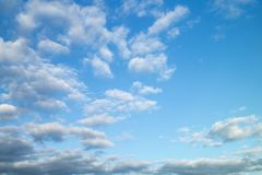 Celestial landscape with white cloud Royalty Free Stock Photography
