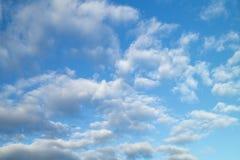 Celestial landscape with white cloud Stock Photos